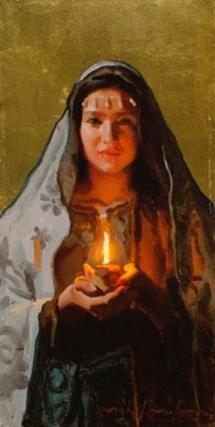 Michael Malm | Illume Gallery of Fine Art | Salt Lake City Light of Hope Oil 16x8