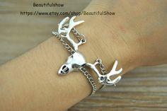 Silver Elk Bracelet Chain Bracelet Friendship by BeautifulShow, $2.99 Fashion charm handmade personalized bracelet, the best gift.