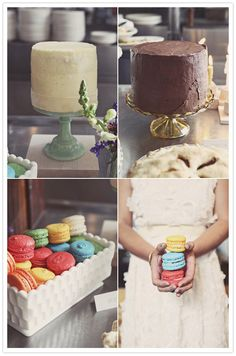 Adorable foodie Chicago wedding | http://www.100layercake.com/blog/2012/02/16/adorable-foodie-chicago-wedding-le-lindsey/