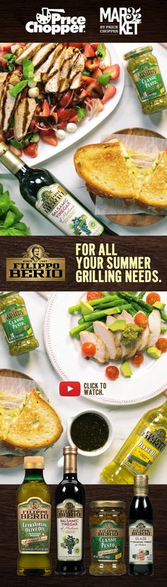 For all your summer grilling needs. Price Chopper, Magazine Contents, Grilled Chicken, Pesto, Grilling, Ethnic Recipes, Summer, Food, Barbecued Chicken