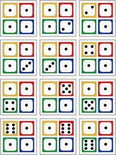 Lernstübchen: 4 Würfelbilder zur Erfassung von Anzahlen