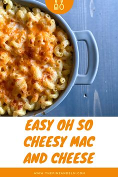 Easy and oh so cheesy, this mac and cheese is simple yet delicious. Add it to your weekly menu today! Cheesy Mac And Cheese, Macaroni And Cheese, Dish Sets, Weekly Menu, Recipes For Beginners, Perfect Food, Cheese Recipes, Other Recipes, How To Cook Pasta
