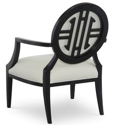 The Olivia Chair @CoachBarn.com by designer Tobi Fairley features stunning Chippendale-inspired style. #chippendalechair #blackandwhite