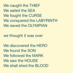 Percy Jackson and The Olympians / The Heroes of Olympus
