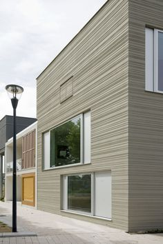 A cube-like three-story house in Leiden designed by GAAGA architects