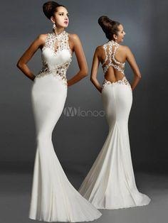 luxurious vestidos White/Black/Red Open Back Fine Flowers Wedding Evening Gown Wedding Evening Gown, Evening Gowns, Evening Party, Bridal Gowns, Wedding Dresses, Bride Dresses, Berta Bridal, Prom Gowns, Dress Prom