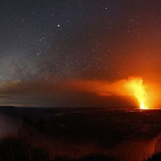 Volcanic activity on the Big Island of Hawaii has increased since this Hawaiian night skyscape was recorded earlier this year. Recent vents…