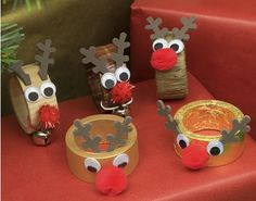 We love this novelty Rudolph napkin ring craft idea. Inspired by our new Rosey Nosey Rudolph Rudolph Face Kits they add a sense of festive fun to the dinner table. Use on their own or add other reindeer crafts to create a themed Christmas celebration th Reindeer Craft, Reindeer Christmas, Ring Crafts, Crafts To Do, Christmas Crafts For Adults, Christmas Ideas, Napkin Rings, Craft Projects, Create