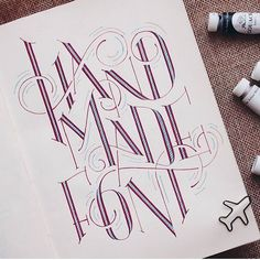 Handmade font by @muliong #designspiration #design #creative #art #illustration #lettering - View this Instagram https://www.instagram.com/Designspiration/