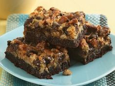 Six Layer Brownie Bars