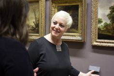 Our docent, Mary, talking about rural Flemish landscapes on our European Paintings, The Hundreds, Landscapes, That Look, Louvre, Mary, People, Mens Tops, Collection