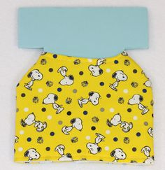 Dog Jacket  Yellow Snoopy and Woodstock/Polka by PatienceWayShop