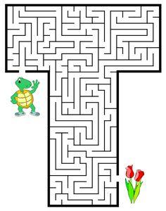 ALFABETOS LINDOS: Atividade de alfabetização: alfabeto com as letras em labirinto