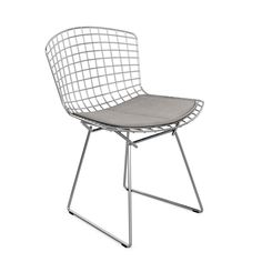 Harry Bertoia's delicately industrial Bertoia Side Chair is among the most recognized achievements of mid-century modern design. Furniture Sale, Unique Furniture, Furniture Collection, Harry Bertoia, Outdoor Dining Furniture, Outdoor Chairs, Perriand, Seat Pads, Mid Century Modern Design