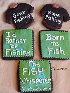 fishing party cookies