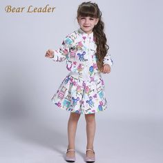 Girls Clothes Cartoon Long Sleeve Girls Outerwear Grils Skirts 2pcs for Kids Clothes $38.18 => Save up to 60% and Free Shipping => Order Now! #fashion #woman #shop #diy www.bbaby.net/...