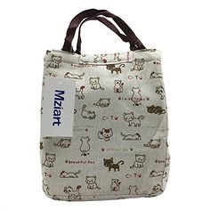 AmazonSmile: Cute Lunch Bag Reusable Lunch Tote Bag Insulated Cooler Bag Handbag with Velcro Closure for Adults Men Women Kids Work Travel Picnic (Cats): Home & Kitchen