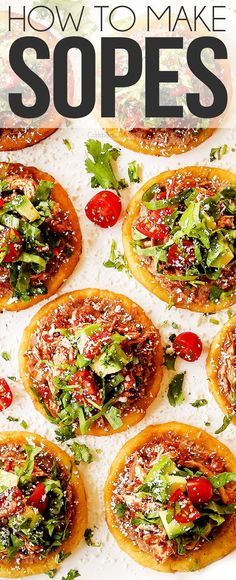 Learn how to make the BEST Mexican sopes with step by step instructions, photos, tips and tricks with refried beans, shredded beef or chicken, lettuce, tomatoes, and creamy avocados. Sopes Recipe, Bulgogi Recipe, Entree Recipes, Appetizer Recipes, Recipes Dinner, Mexican Dishes, Mexican Food Recipes, Rice Recipes, Salad Recipes