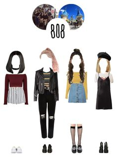"""going to lotte world w/ gems –– 여덟시"" by eight-o-eight-official ❤ liked on Polyvore featuring River Island, Glamorous, Fleur du Mal, WithChic, Music Legs, Boohoo, Motel, Jeffrey Campbell, T.U.K. and Dr. Martens"