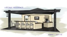 Outdoor Kitchen & Ramada Plans - posted in Custom Outdoor Kitchens: Below are a few plans I created for a project starting in a few weeks. Any thoughts would be appreciated! Jim Here is another of the back view of the project Here is a top view