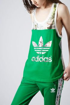 **Printed Vest by Topshop x adidas Originals - Topshop x adidas Originals - Clothing cuz I'm still a tomboy for life