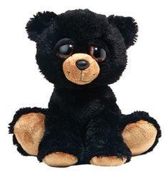 "stuffed animal plush 10"" BLACK BEAR DREAMY EYES aurora #Aurora"