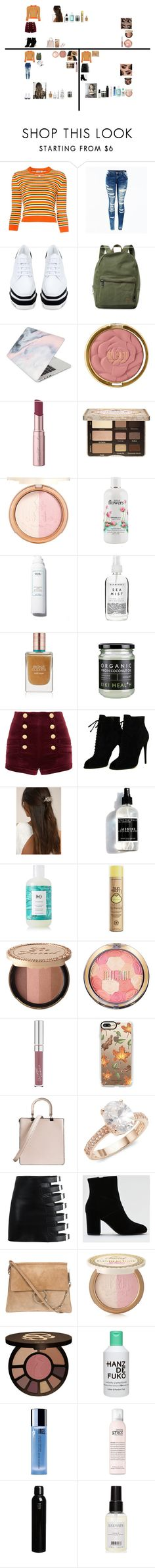 """""""Untitled #144"""" by bethdawson717 on Polyvore featuring Courrèges, STELLA McCARTNEY, Herschel Supply Co., Recover, Milani, Too Faced Cosmetics, philosophy, Herbivore, Estée Lauder and Pierre Balmain"""