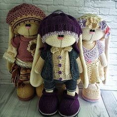 Patterns in English Dutch Russian. Ready toys by Crochetbunnyart Toys Patterns dutch Pattern English, Nederlands, Francais, deutsch, español by Crochetbunnyart Crochet Doll Pattern, Crochet Toys Patterns, Stuffed Toys Patterns, Crochet Dolls, Crochet Bunny, Crochet Animals, Crochet For Kids, Knitted Bunnies, Animal Crafts