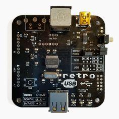 Convertisseur d'entrée ADB-USB Wombat   Big Mess o 'Wires Pc Keyboard, Keyboard Typing, Mac Plus, Gnu Linux, Mac Mini, Wombat, Magic Mouse, Usb Hub, Raspberry
