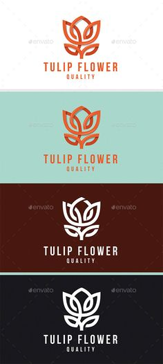 Tulip Flower Logo Design Template Vector #logotype Download it here: http://graphicriver.net/item/tulip-flower/12352734?s_rank=601?ref=nexion