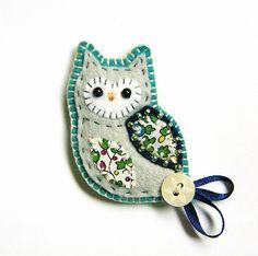 Owl Brooch - Folksy