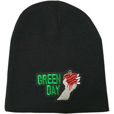 Greenday Rock band Beanie Ski Hat Cap Beanie (27 RON) ❤ liked on Polyvore featuring accessories, hats, watch hat, rock band hats, beanie hats, beanie cap hat and watch cap