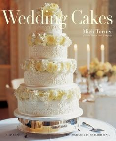Mich Turner is London's top cake designer for society and celebrities alike. She has refined a simple and modular approach—start with a dozen basic recipes and let the icing, glazes,. Wedding Cake Decorations, Cool Wedding Cakes, Elegant Wedding Cakes, Beautiful Wedding Cakes, Wedding Cake Designs, Beautiful Cakes, Lace Wedding, Post Wedding, Wedding Things