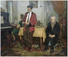 Бурак Александр Филиппович «К сыну за помощью» 1956