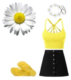 """Summer flowers"" by zelihagunes on Polyvore featuring LE3NO, Miss Selfridge and Havaianas"