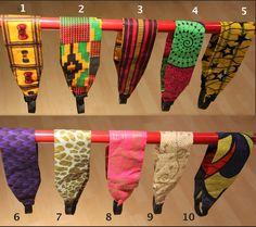 Headbands - African Ankara Wax Cotton Print Fabric Headbands. via Etsy.