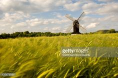Stock Photo : View of Pitstone Windmill from a field near Tring, Tring, Hertfordshire, England.