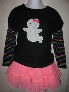 Halloween Cute Girl Ghost Glow In the dark Shirt by rowanmayfairs, $26.00