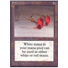 Sunglasses of Urza (Limited Edition Beta) - Gatherer - Magic: The Gathering