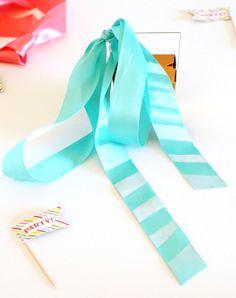 Spray painted ribbon