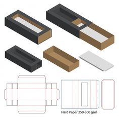 Retail Box with Blueprint Template Cookie Packaging, Food Packaging Design, Box Packaging, Diy Gift Box, Diy Box, Paper Box Template, Box Patterns, Box Design, Paper Crafts