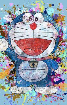 'Doraemon Full Colors ' iPhone Case by Anndha Flower Phone Wallpaper, Cute Wallpaper Backgrounds, Galaxy Wallpaper, Iphone Wallpaper, Doraemon Wallpapers, Cute Cartoon Wallpapers, Doraemon Stand By Me, Doraemon Cartoon, Sad Pictures
