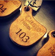 Custom keychain keyholder wood cnc router laser