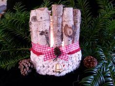 """""""White Christmas"""" - Windlicht -KC 19 von Sandras Wunderland auf DaWanda.com"""