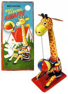 Linemar, Ball Playing Giraffe (Factory Sample)