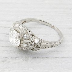 .90 Carat Vintage Engagement Ring   New York Vintage & Antique Estate Jewelry – Erstwhile Jewelry Co NY