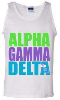Get their attention with this Alpha Gamma Delta tank