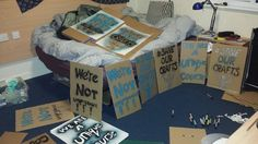 Preparing to protest the closure of the Contemporary Crafts Degree at Falmouth Uni…