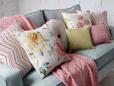 Beautiful mix & match cushions and throw soft furnishings to complete your space