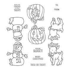 Seasonal Chums Clear-Mount Stamp Set by Stampin' Up!